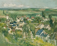 Auvers Sur Oise painting reproduction, Paul C�zanne