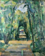 Avenue at Chantilly painting reproduction, Paul Cézanne