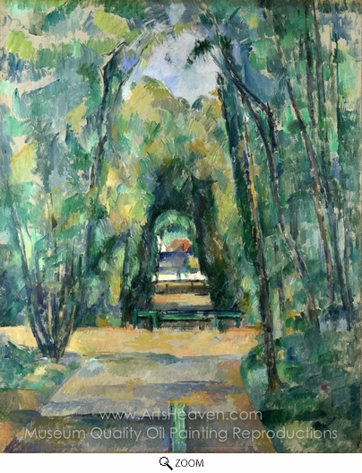 Paul Cézanne, Avenue at Chantilly oil painting reproduction