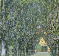 Avenue in Schloss Kammer Park painting reproduction, Gustav Klimt