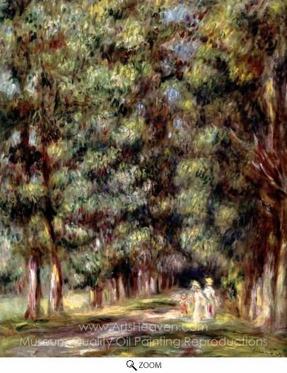 Pierre-Auguste Renoir, Avenue through the Undergrowth oil painting reproduction