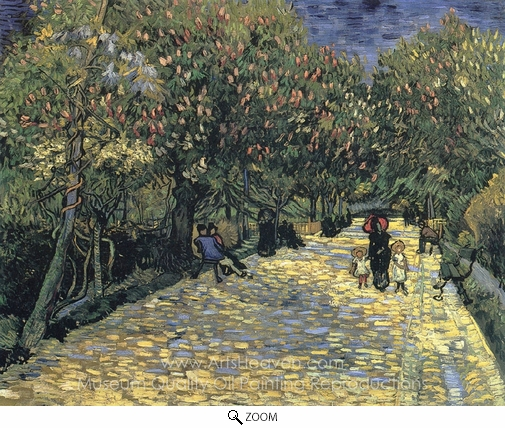 Vincent Van Gogh, Avenue with Flowering Chestnut Trees oil painting reproduction