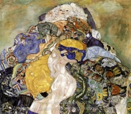 Baby (detail) painting reproduction, Gustav Klimt