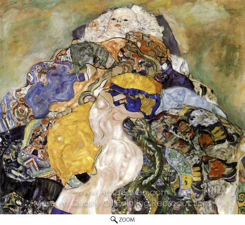 Gustav Klimt, Baby (detail) oil painting reproduction