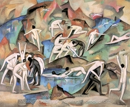Bacchanale Among the Rocks painting reproduction, Alice Bailly