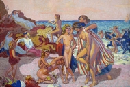 Bacchus and Ariadne painting reproduction, Maurice Denis