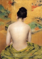 Back of a Nude painting reproduction, William Merritt Chase
