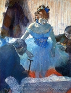 Ballerina Changing painting reproduction, Edgar Degas