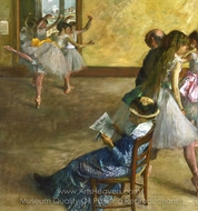 Ballet Class painting reproduction, Edgar Degas