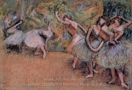 Ballet Scene painting reproduction, Edgar Degas