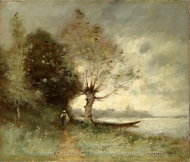 Bank of the Loire Near Chouze painting reproduction, Paul Desire Trouillebert