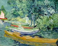 Bank of the Oise at Auvers painting reproduction, Vincent Van Gogh