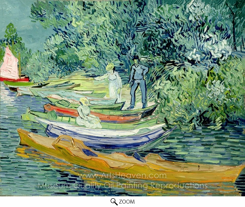 Vincent Van Gogh, Bank of the Oise at Auvers oil painting reproduction
