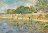 Bank of the Seine painting reproduction, Vincent Van Gogh
