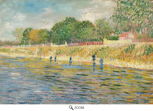 Vincent Van Gogh, Bank of the Seine oil painting reproduction