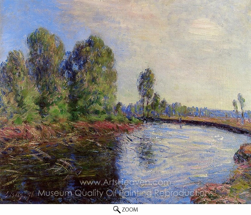Alfred Sisley, Banks of the Loing oil painting reproduction