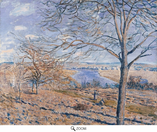 Alfred Sisley, Banks of the Loing, Autumn Effect oil painting reproduction