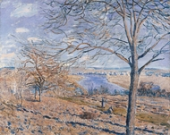 Banks of the Loing, Autumn Effect painting reproduction, Alfred Sisley