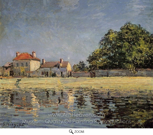 Alfred Sisley, Banks of the Loing, Saint-Mammes oil painting reproduction