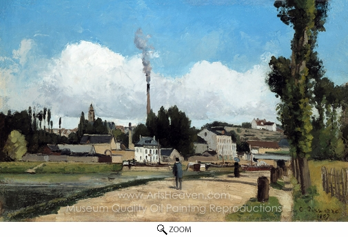 Camille Pissarro, Banks of the Oise at Pontoise oil painting reproduction