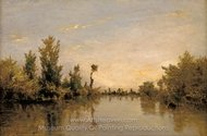 Banks of the Seine painting reproduction, Charles Daubigny