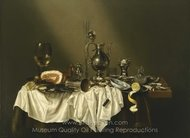 Banquet Piece with Ham painting reproduction, Willem Claesz. Heda