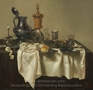 Banquet Piece with Mince Pie painting reproduction, Willem Claesz. Heda