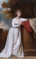 Barbara, Marchioness of Donegal painting reproduction, George Romney