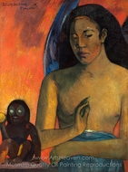 Barbarian Poems painting reproduction, Paul Gauguin
