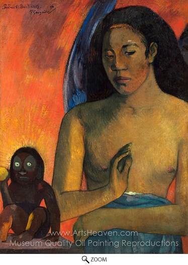 Paul Gauguin, Barbarian Poems oil painting reproduction