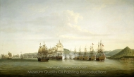Barrington's Action at St. Lucia, 15 December 1778 painting reproduction, Dominic Serres