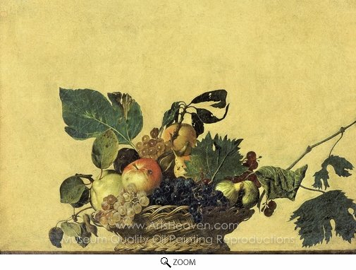 Caravaggio, Basket of Fruit oil painting reproduction