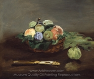 Basket of Fruit painting reproduction, �douard Manet