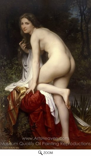 William A. Bouguereau, Bather oil painting reproduction
