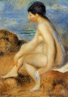 Bather painting reproduction, Pierre-Auguste Renoir
