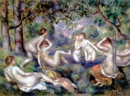 Bather in the Forest painting reproduction, Pierre-Auguste Renoir