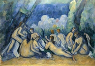 Bathers (Bathing Women) painting reproduction, Paul C�zanne