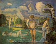 Bathers at Rest painting reproduction, Paul Cézanne