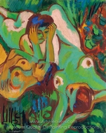Bathers in the Meadow painting reproduction, Ernst Ludwig Kirchner