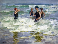 Bathers in the Surf painting reproduction, Edward Henry Potthast