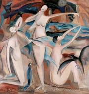 Bathers with Birds painting reproduction, Alice Bailly