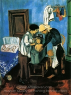 Bathing a Baby painting reproduction, Marc Chagall (inspired by)