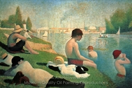 Bathing at Asniers painting reproduction, Georges Seurat