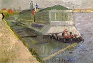 Bathing Boat on the Seine at Asnieres painting reproduction, Vincent Van Gogh