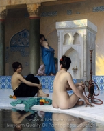 Bathing Scene painting reproduction, Jean-Leon Gerome