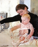 Bathing the Young Heir painting reproduction, Mary Cassatt