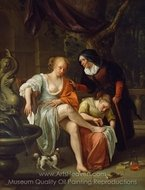 Bathsheba After the Bath painting reproduction, Jan Steen