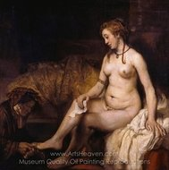 Bathsheba at Her Bath painting reproduction, Rembrandt Van Rijn