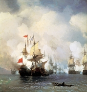 Battle in Hiosskiy Strait painting reproduction, Ivan Aivazovskiy