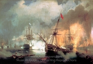 Battle of Navarino painting reproduction, Ivan Aivazovskiy